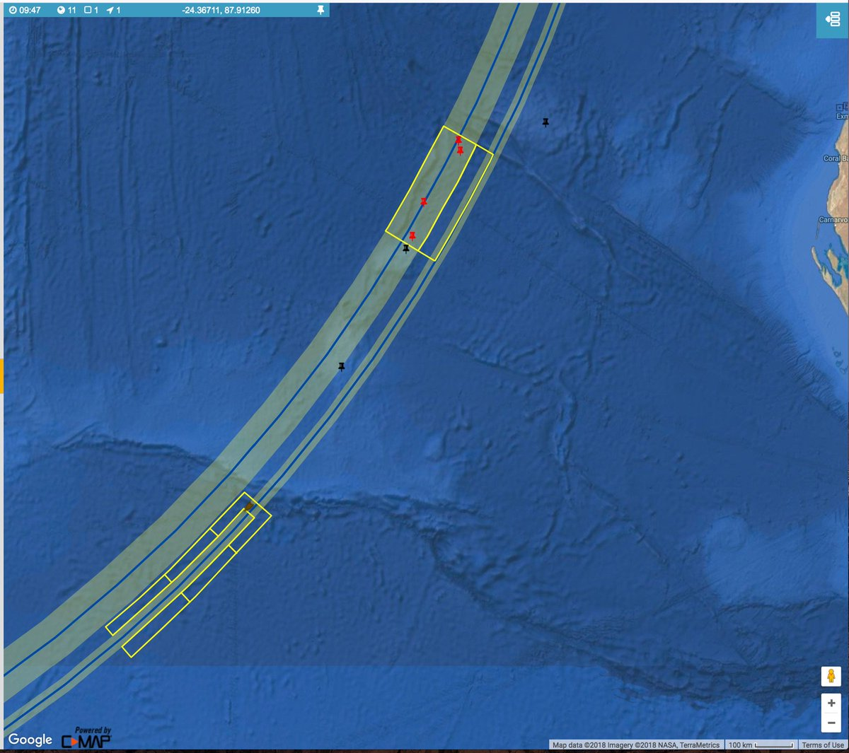 More Than 1000 Km North Of The Current Search Area More Than 2000 Km From The Original Pic Twitter Com B8z9neszrs