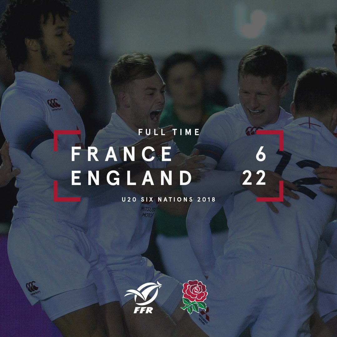 Its full time in Beziers and England U20s have got the weekend off to a winning start 🌹 Match report to follow...