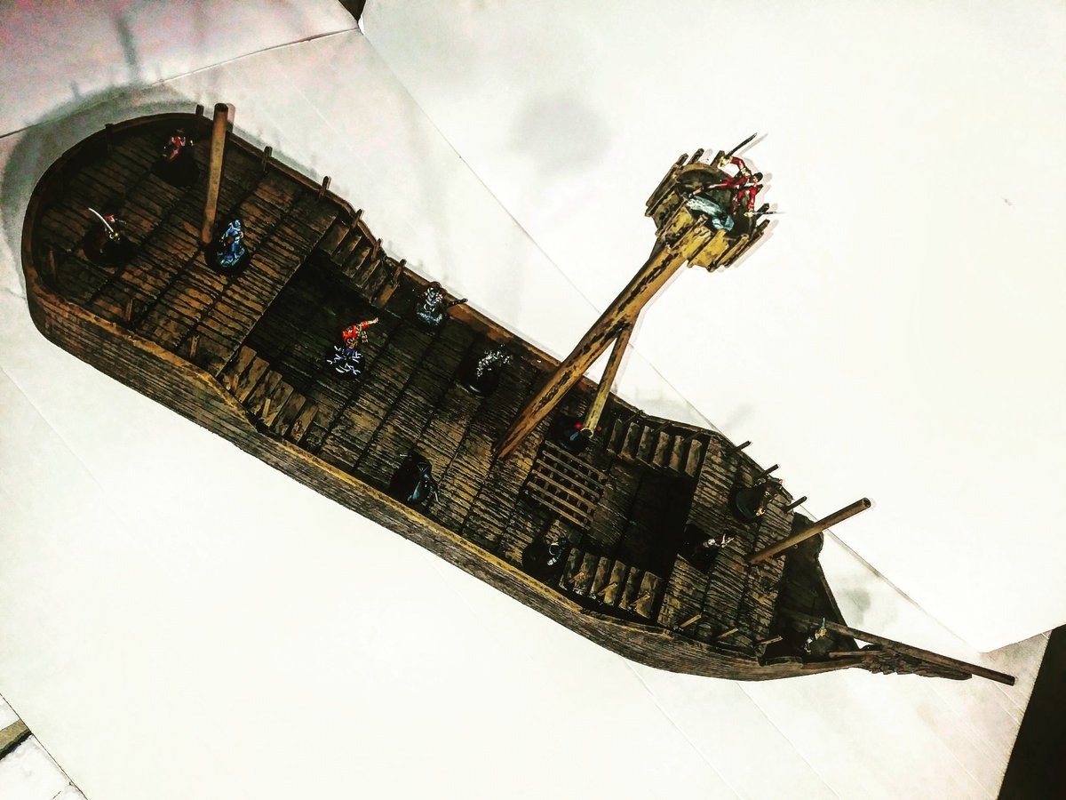 "Dustin D4 @ Gamehole Con on Twitter: ""Pirate Boat Terrain ..."