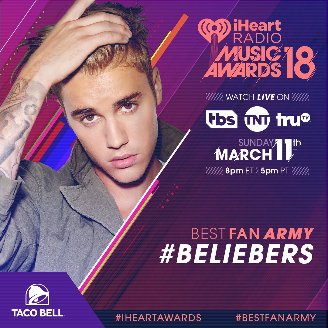 RT to vote for the #Beliebers for #BestFanArmy! Voting is still open! #iHeartAwards