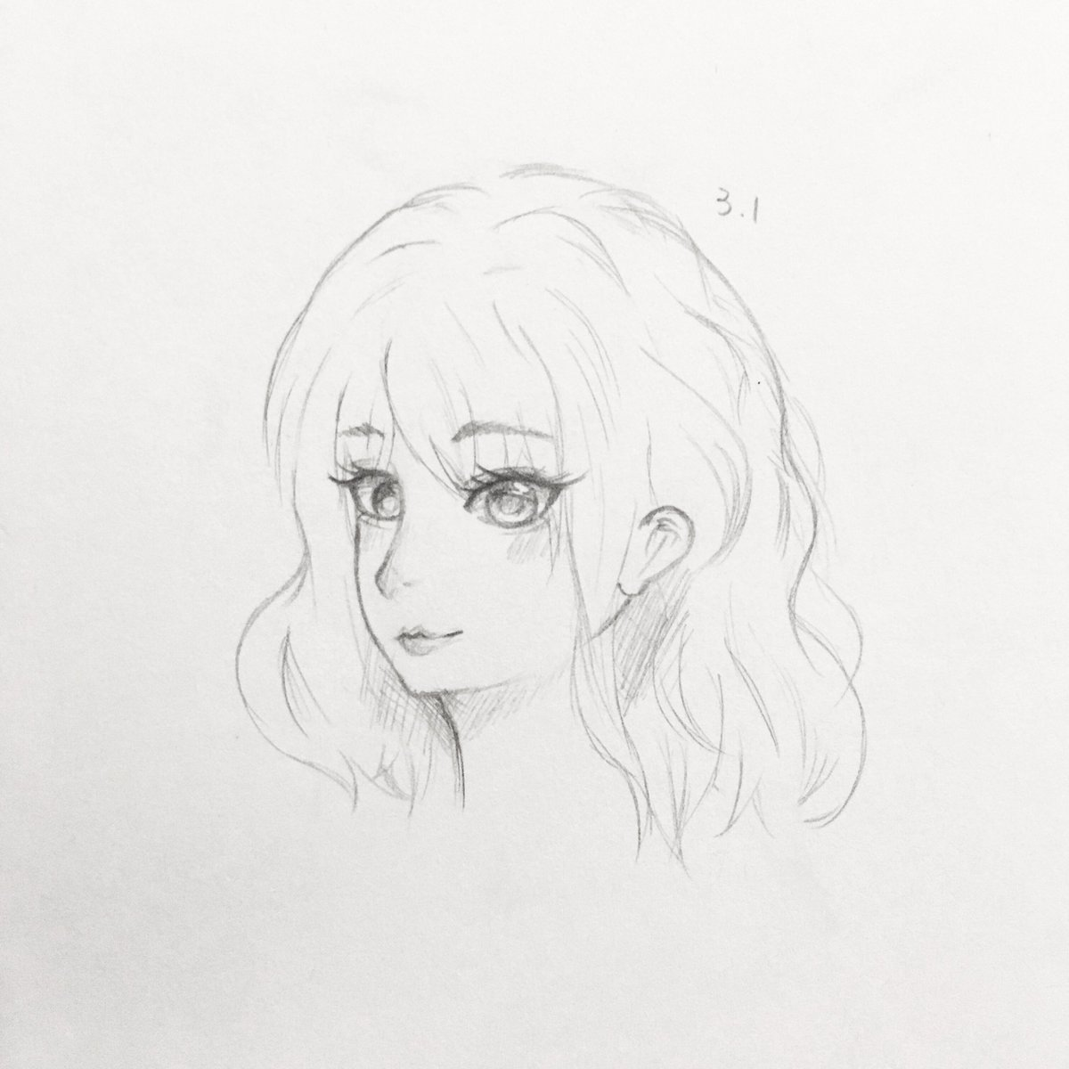 katrina 冰 on twitter first try of semi realistic drawing