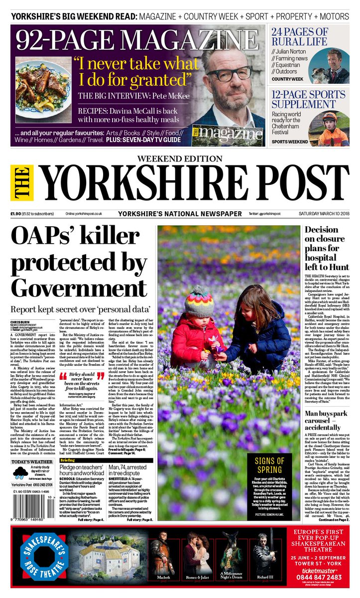 Here S This Weekend Yorkshirepost Front Page Theyp Yplive Yorkshire Apaper Photographypic Twitter Kxc8xj5u0c