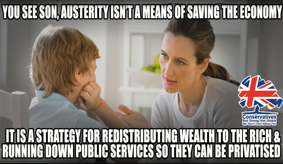 Austerity continues to crush the poor and let the rich exploit them. Philip Hammond has a budget coming up - but were not holding our breath for any policies that will ease the ain felt by societys most vulnerable. #EndAusterity