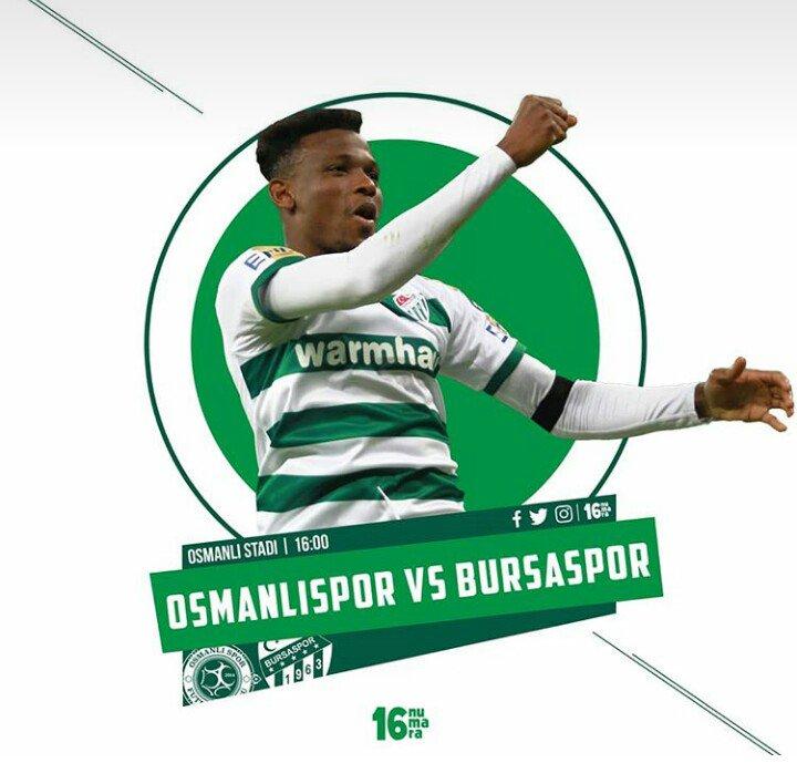 Matchday: Osmanlispor vs @BursasporSk.  #WeAreBursaspor #MatchdayMood  @16numaraaa √√√√