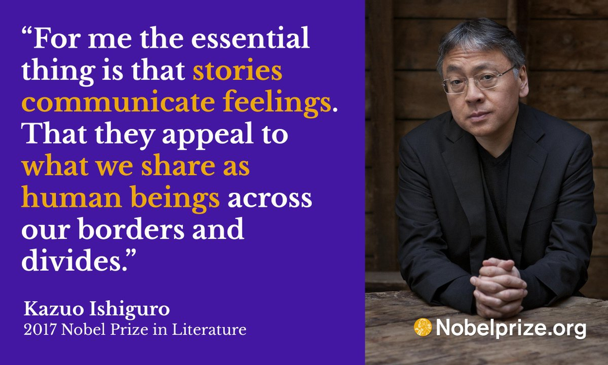 Kazuo Ishiguro on the power and importance of stories.