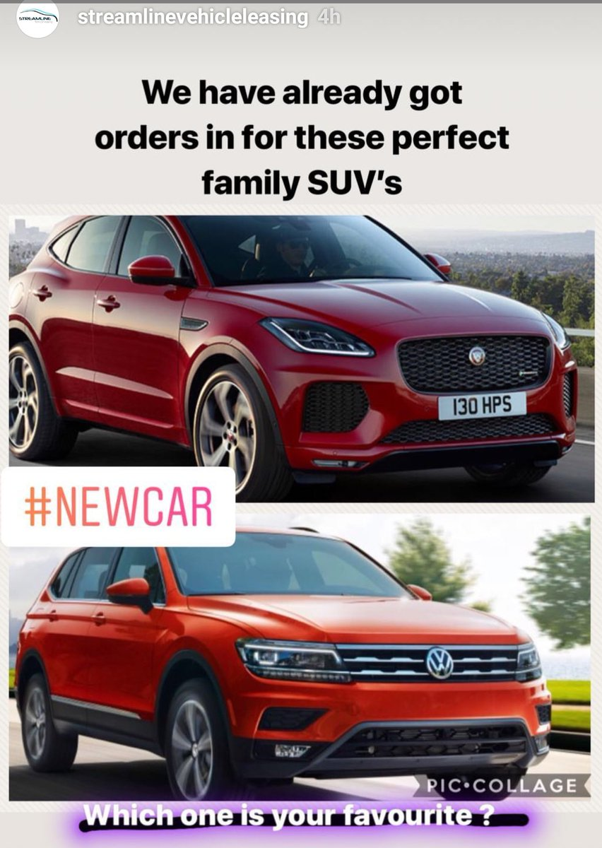 Two Of Our Most Por Family Suv S Already Started To Take Orders Now For Live Date Which One Do You Prefer Jaguar Epace Volkswagen Tiguan