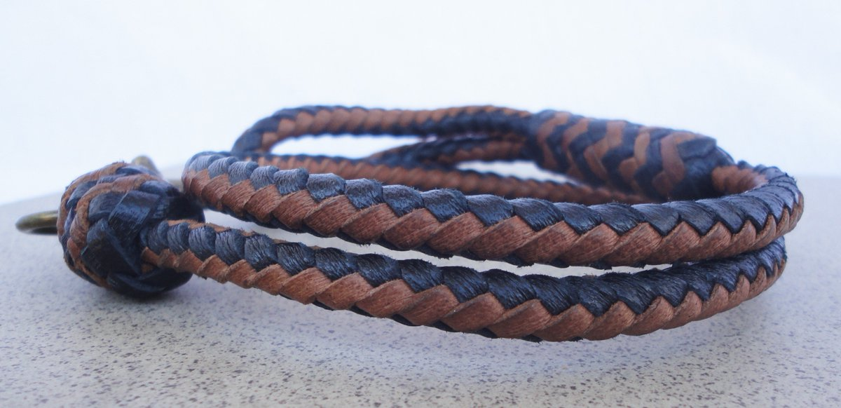 Leather Keychain Braided Leather Wrist Strap Strap Purses Key Holder Orange
