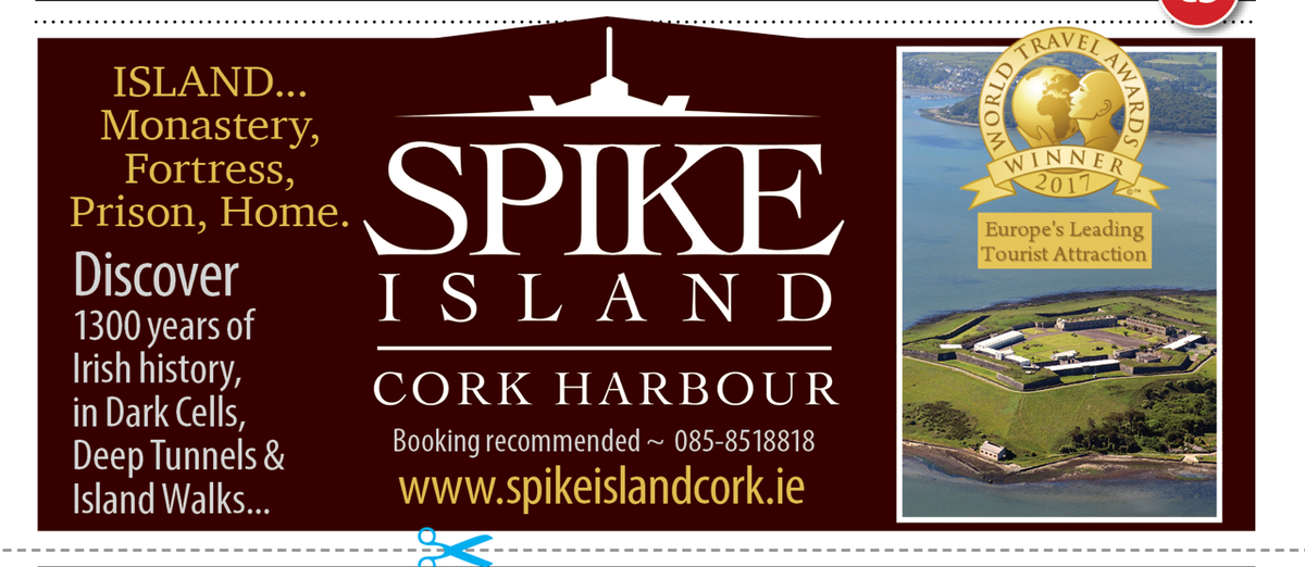 Spike Island is open today, with boats at 12pm, 1pm & 2pm.  Discover Ireland's Captains & Convicts, Rioters & Rebel's & Sinners & Saints. https://t.co/a1nBKMIT42 https://t.co/Oyn95b4Pdo