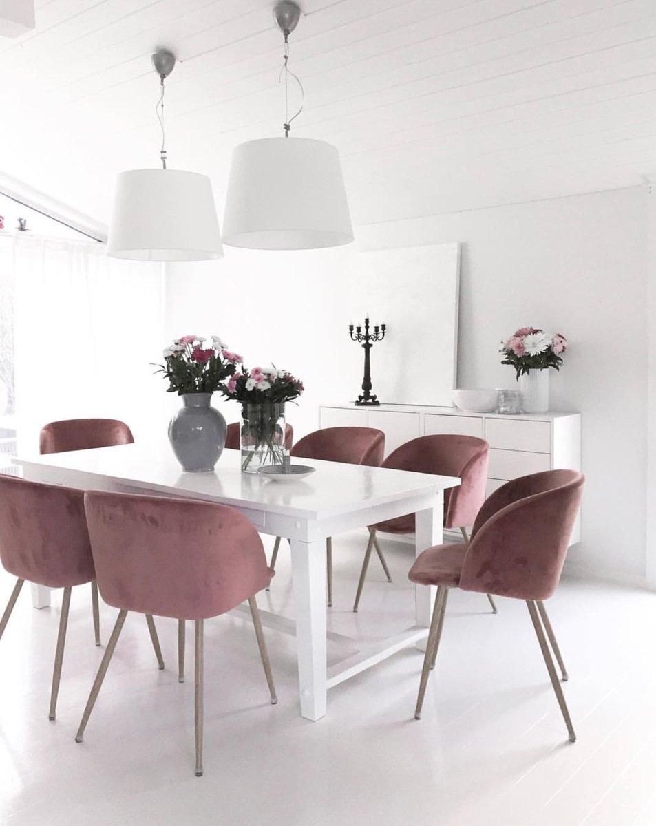 Beyond living on twitter pink perfection 💕 scandinavian scandinavianinterior gubi gubichairs inspiration flowers scandi minimalism homedecor