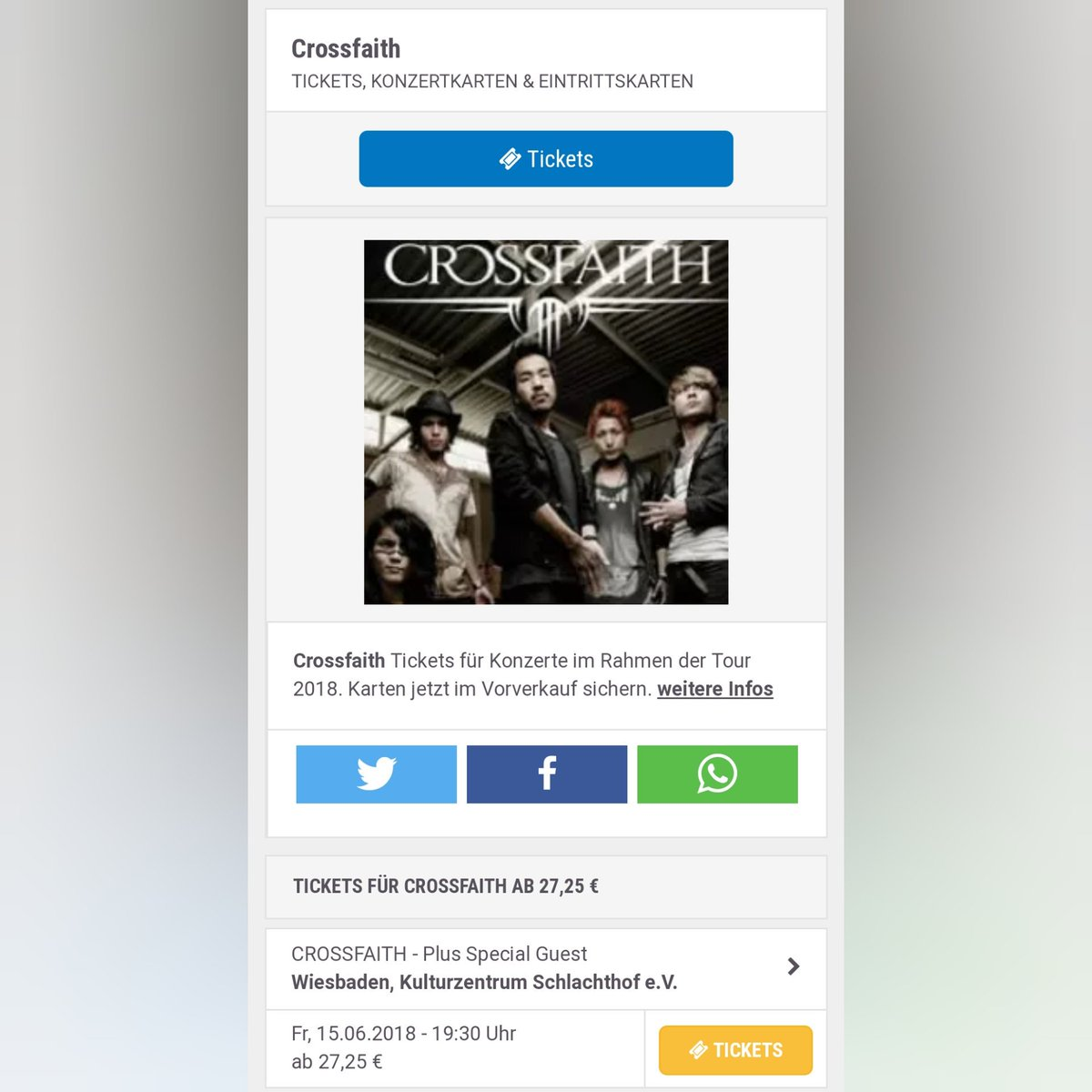 Crossfaith Germany on Twitter: \