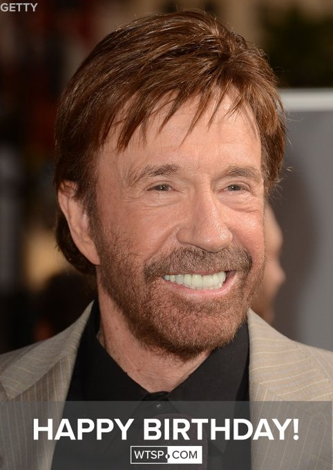 Happy 78th birthday to Chuck Norris!