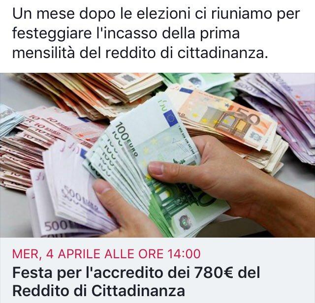 È nato il primo gruppo ironico sul #redditodicittadinanza. Vi aspettiamo il 4 aprile presso i #caf di tutta Italia per incassare il reddito di gittadinanza promesso da Giggino!! Aderite e condividete l\