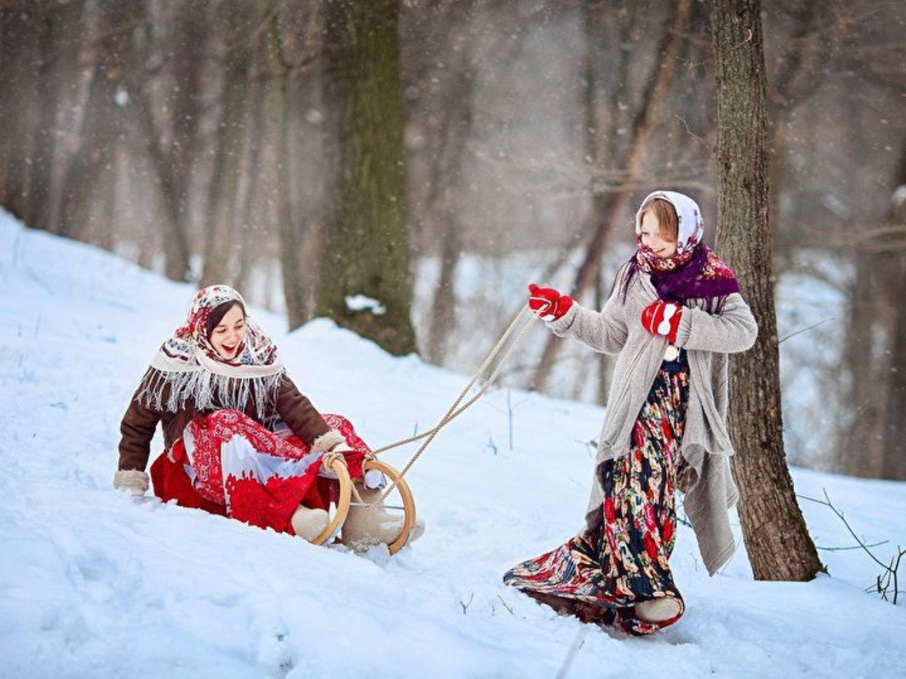 русские народные картинки зима поэтому