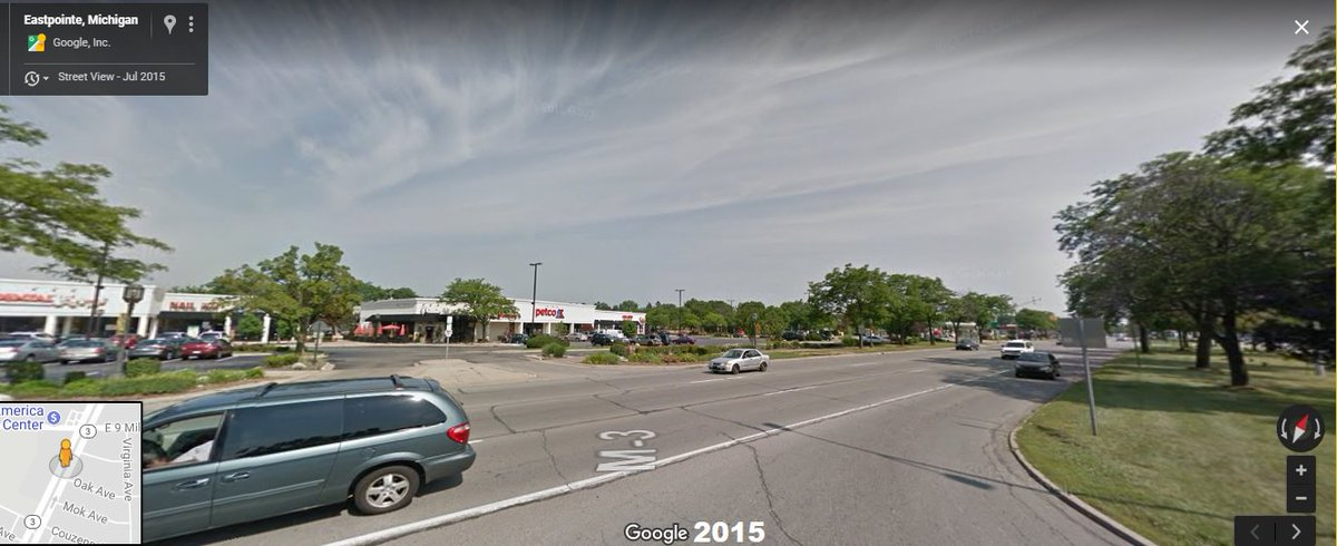These Street Level Businesses South Of 9 Mile Were Later Replaced With Set Back Strip Mall Type Developmentspictwitter 5rdWsCK7jV