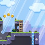 It turns out our level assets translate to a little platformer pretty instantly! - maybe mix up the shooter with a little platforming 🤔😄 - #pixelart #8bit #indiegame #iosgame #indiegamedev #gamemakerstudio #shmup #games #ios #nintendo #playstation #xbox #switch #nintendoswitch