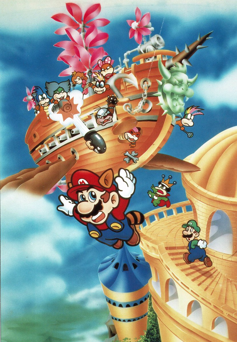 Uzivatel Videogameart Tidbits Na Twitteru Super Mario Bros 3 Promotional Artwork And Early Draft Mar10day
