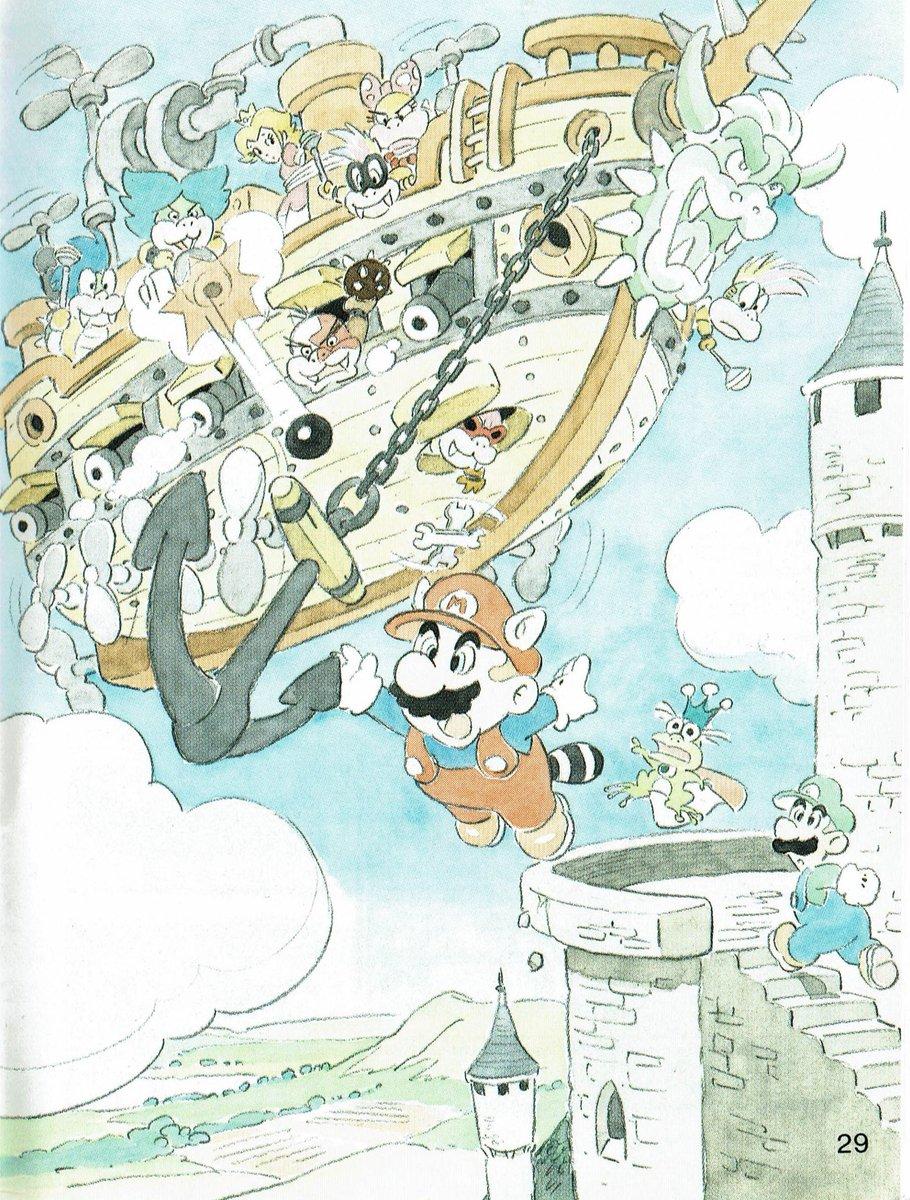 Videogameart Tidbits On Twitter Super Mario Bros 3 Promotional