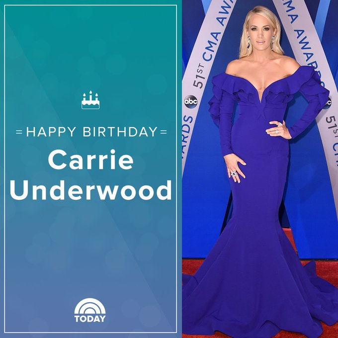 Happy 35th birthday, Carrie Underwood!