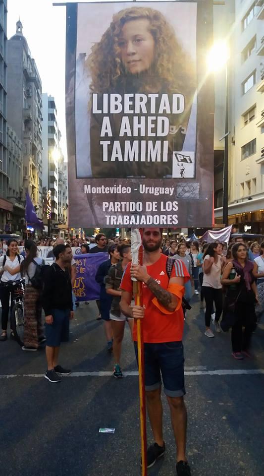 EN URUGUAY TAMBIÉN PEDIMOS QUE LIBEREN A AHED TAMIMI. #FreeAhedTamimi