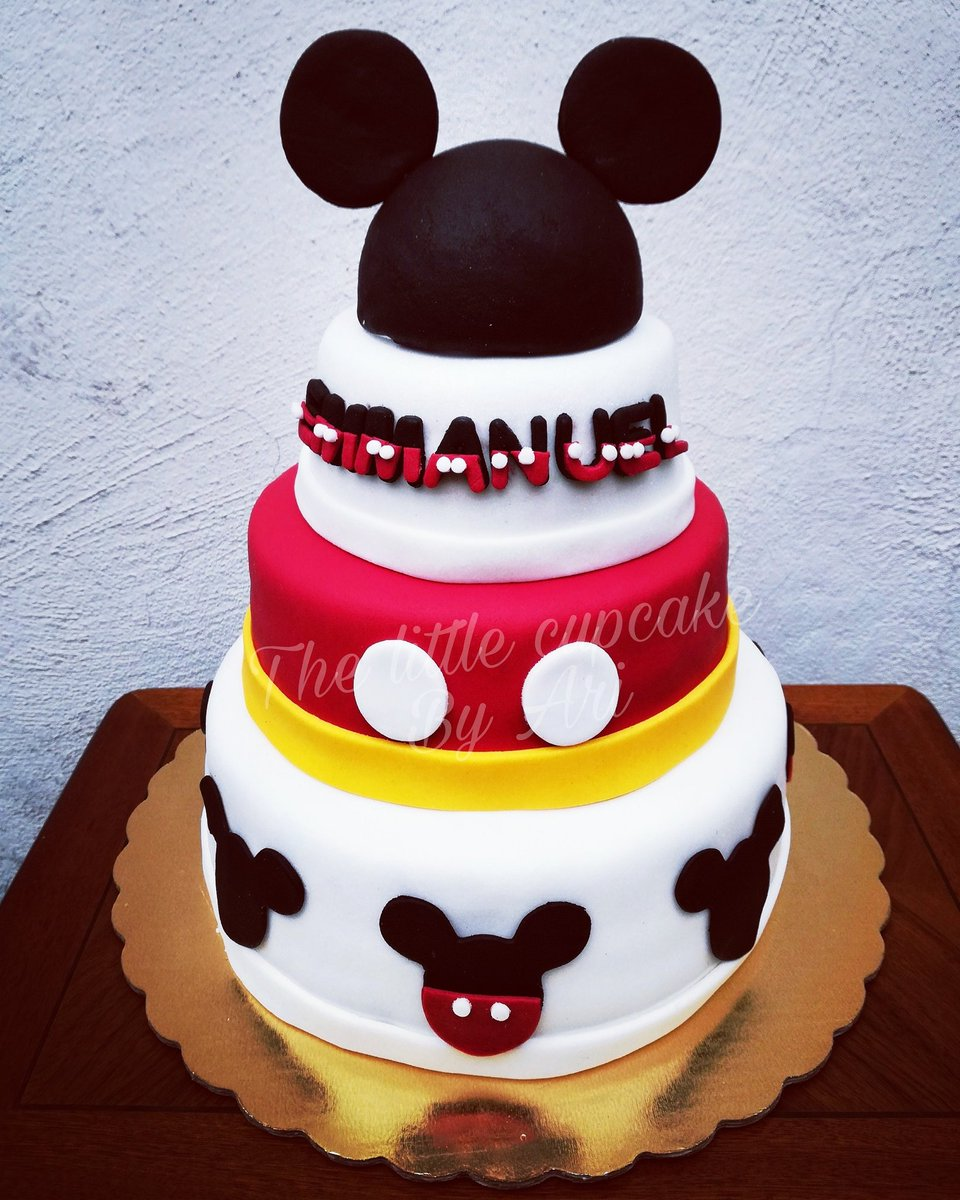 The Little Cupcake On Twitter Pastel Temática Mickeymouse