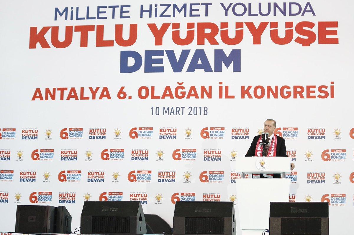 Genel Başkanımız, Cumhurbaşkanımız Sayın Recep Tayyip Erdoğan'ın teşrifleriyle Antalya 6. Olağan İl Kongresini büyük bir çoşkuyla gerçekleştirdik. Kongremiz tüm teşkilatımıza ve partimize hayırlı olsun. @RT_Erdogan @Akparti