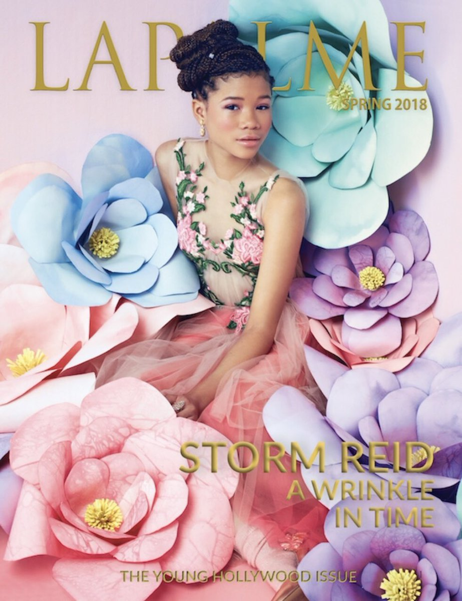 #WrinkleInTime star Storm Reid for La Palme magazine, spring issue.💜 Y'all need to see her as #MegMurry !🙌🏽