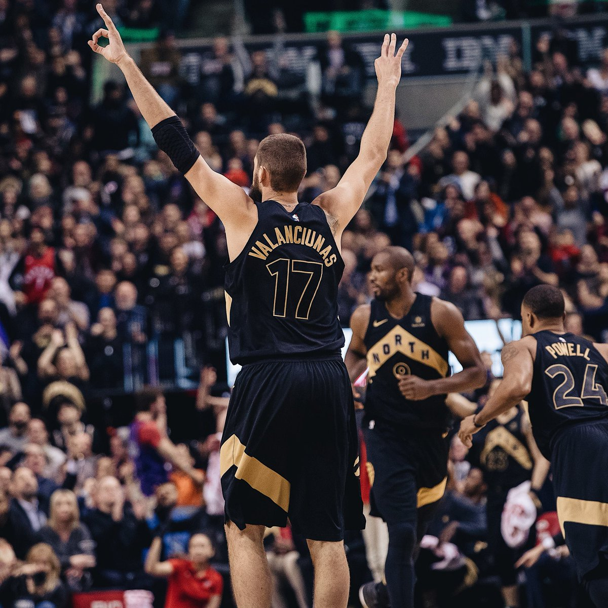 Great team win. The fans made it seem like a playoff game. Thank you! :))  #wethenorth #drakenight