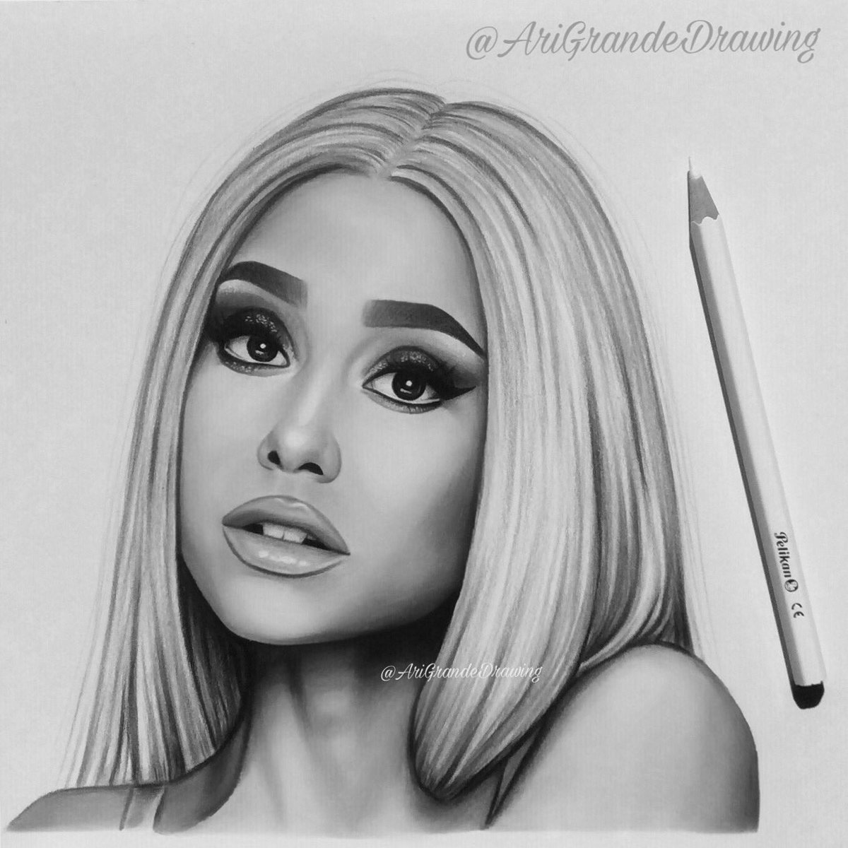 Spirosart on twitter ariana grande with platinum hair is the perfect concept im so proud of this drawing by the way ✨🙈