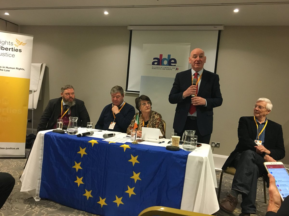 Victoria evans londonvictoria twitter being part of the eu the good friday agreement wouldnt have happened a packed room is listening to the facts myths and risks of brexit on ni platinumwayz
