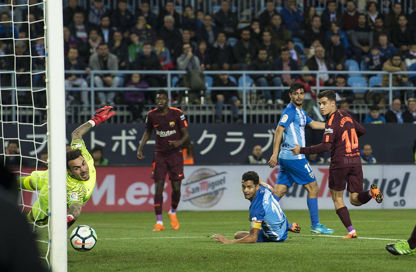 Malaga 0-2 Barcelona Highlights