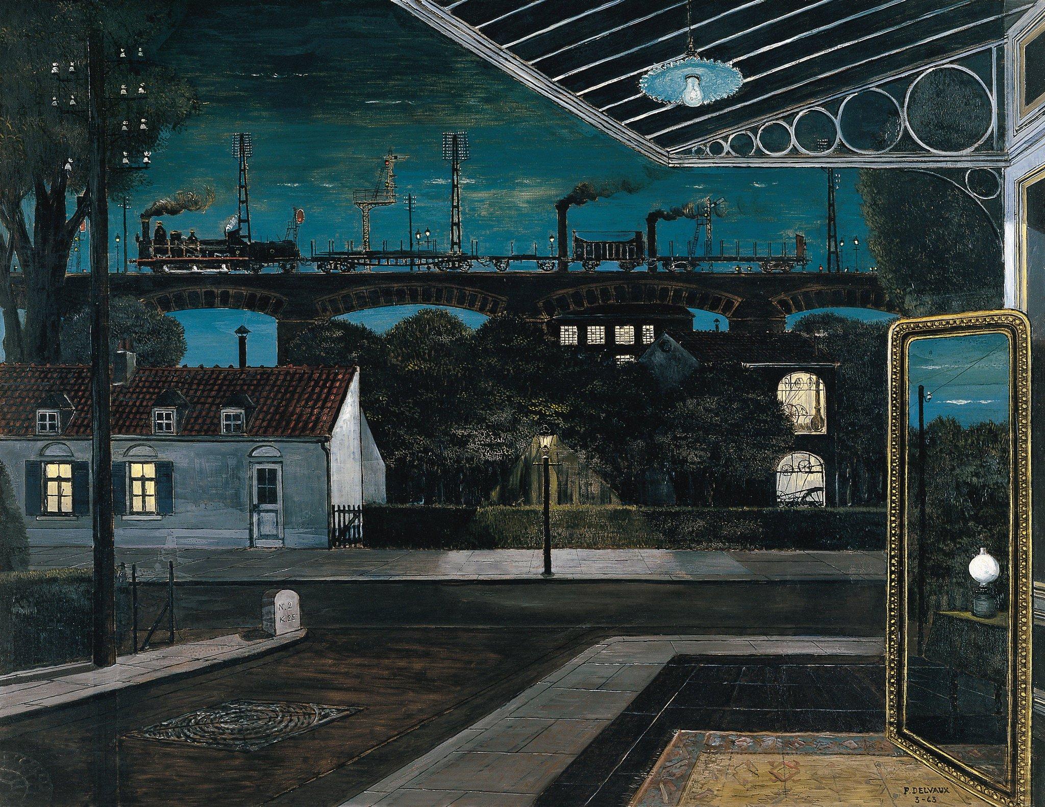 "Anne Mortier on Twitter: ""The viaduct Paul Delvaux #night… """