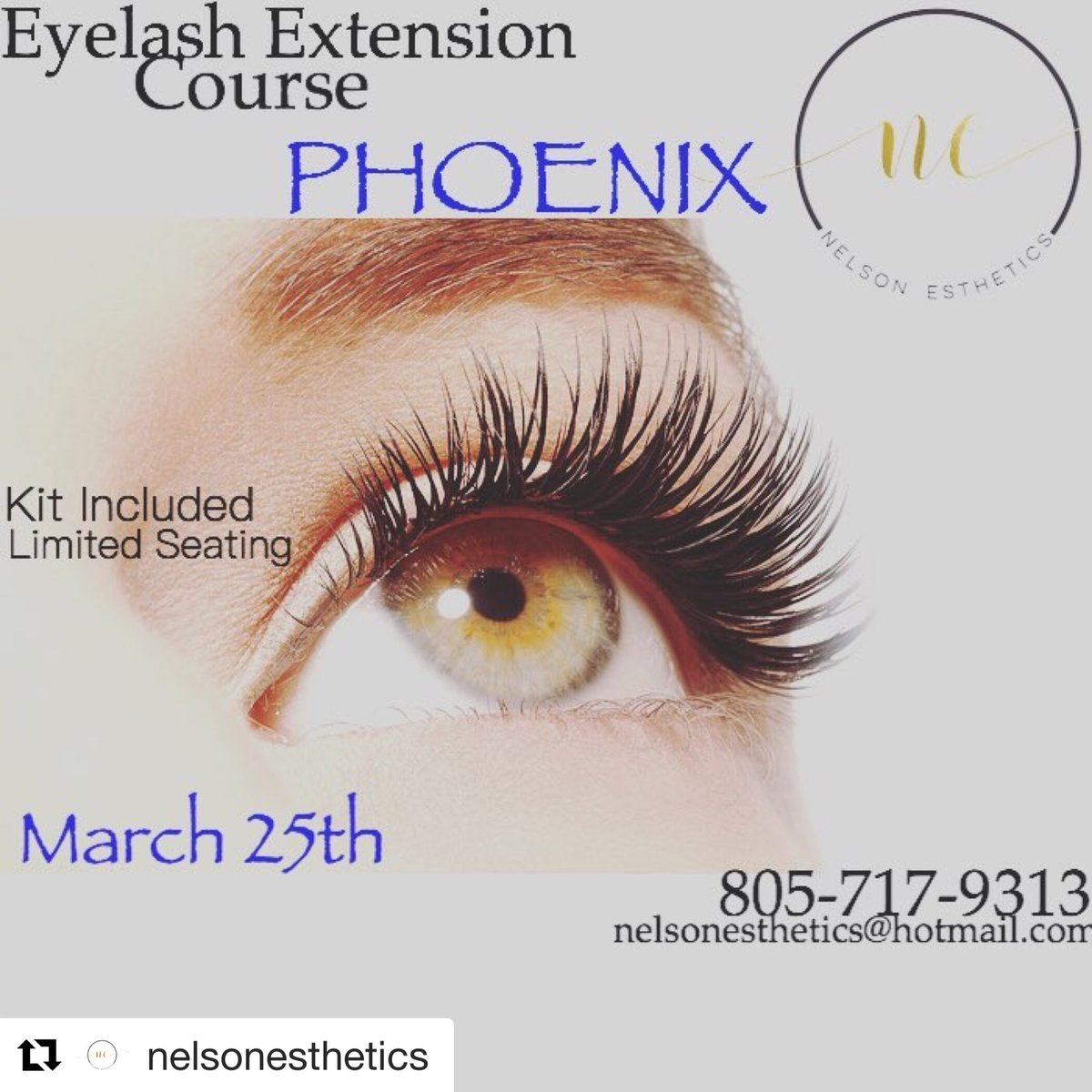 REGISTRATION CLOSING TODAY #phoenixeyelashextensions #lashextensiontraining