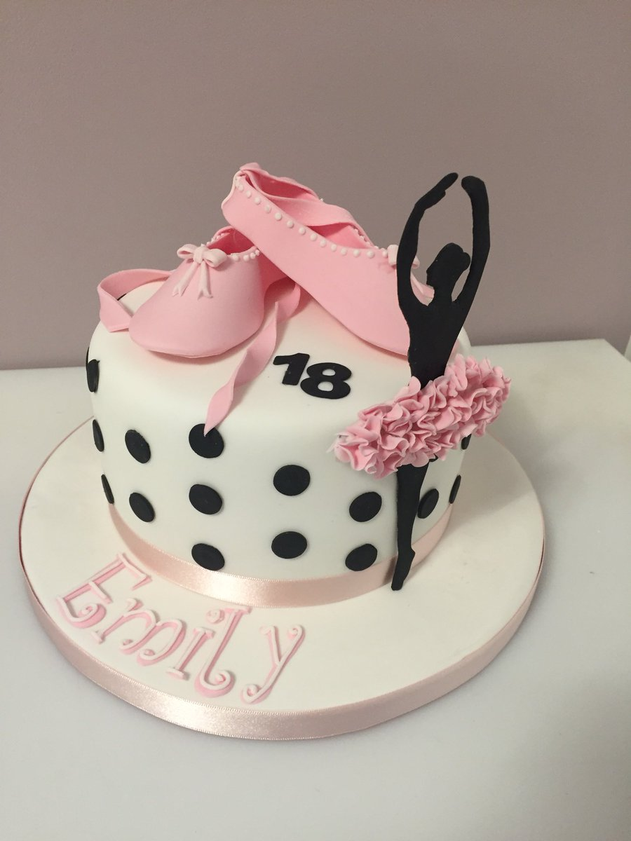 Magnificent Cariad Cakes By Pippa On Twitter Happy Birthday Emily 18Th Funny Birthday Cards Online Hetedamsfinfo