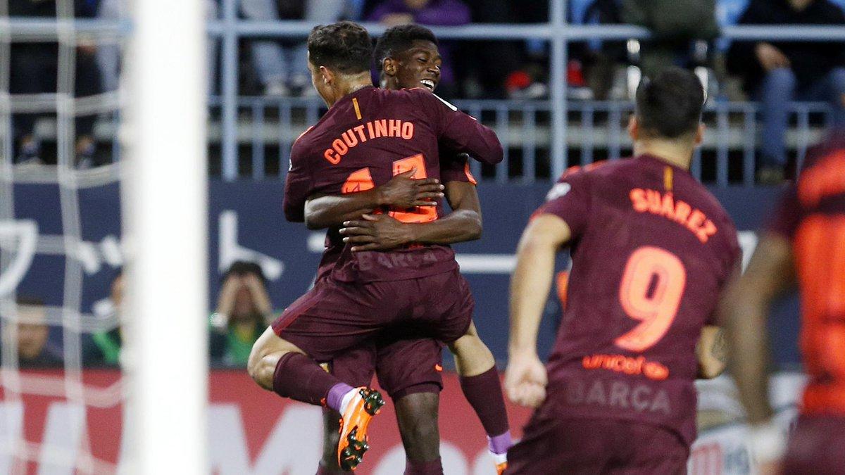 Chấm điểm kết quả Malaga 0-2 Barcelona