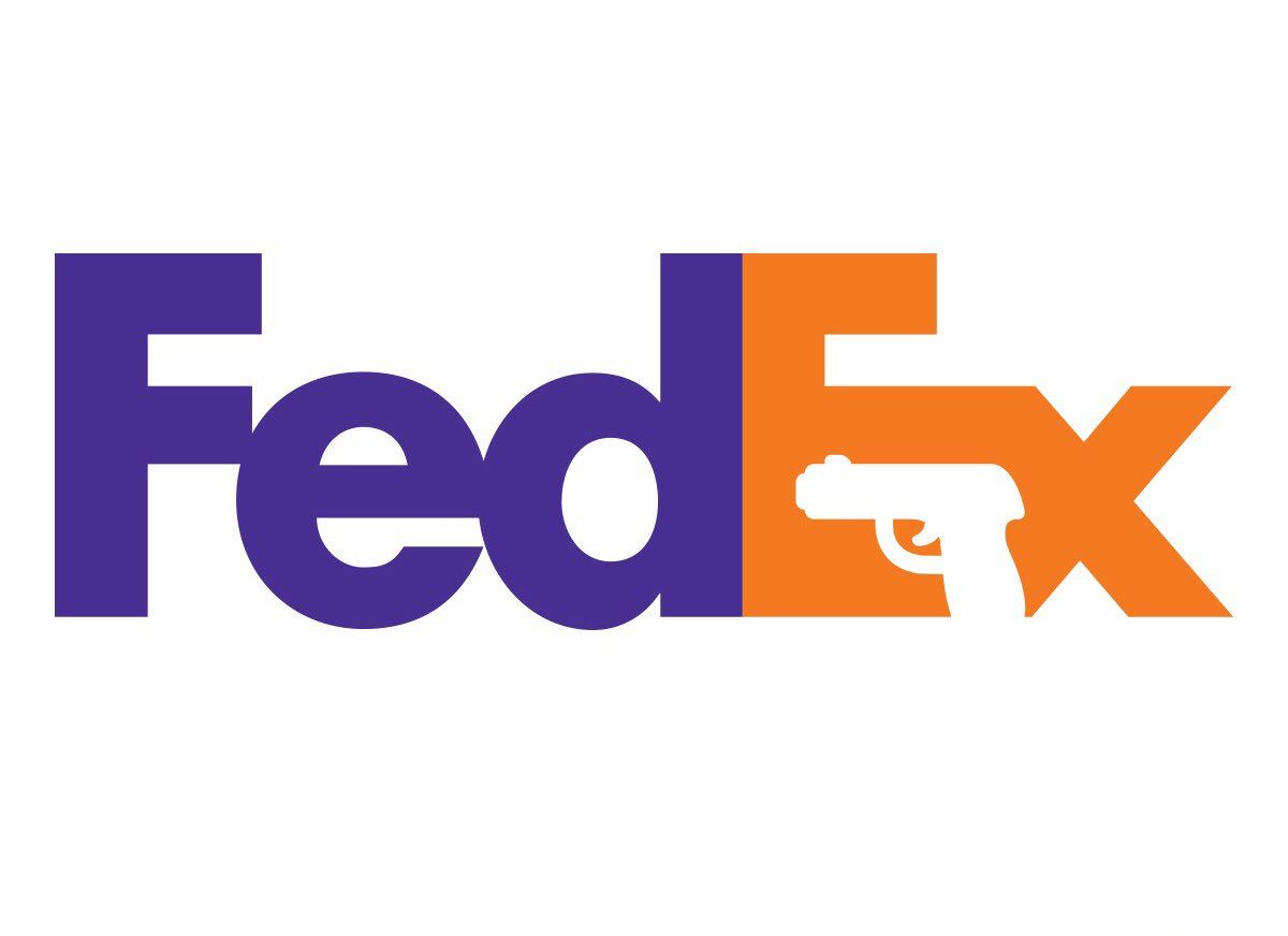 RT @TheGoodGodAbove: Wow I never noticed the gun hidden in @FedEx's logo before https://t.co/x4lloSnZxz