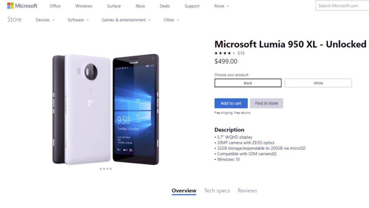なんか、Microsoftのサイトで昔のスマホ(Lumia)が販売されているんですけど! #マイクロソフト #マイクロソフト製品 https://t.co/nESg4ftfkv