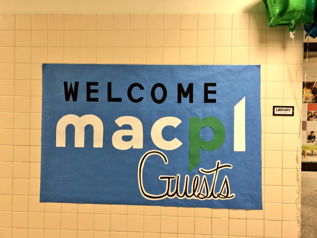 Today was a great day to share a few of the wonderful things that are happening in our schools-amazing teachers making a difference with our fantastic students! #MACPL18