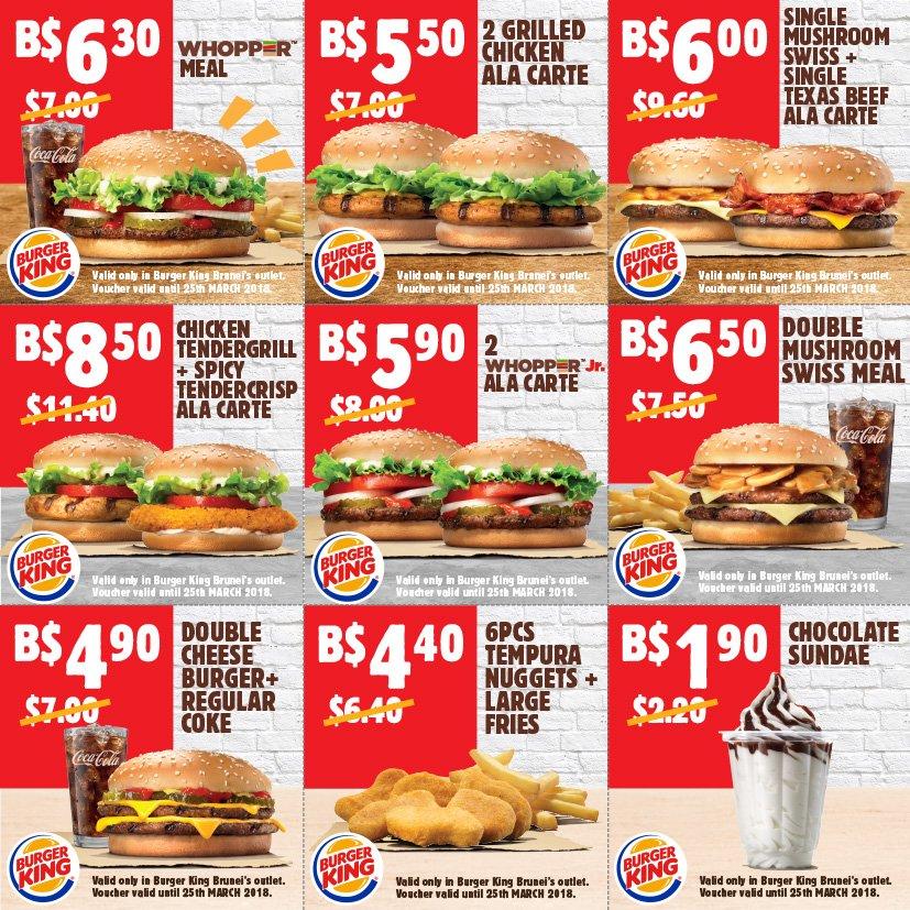 Carte Burger King.Burger King Brunei On Twitter Coupon Deals Are Back Head