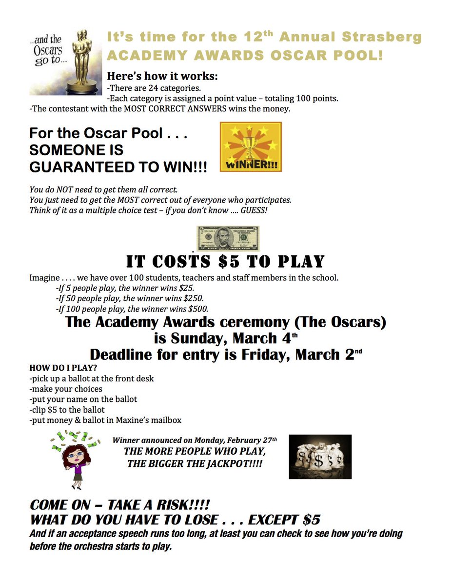 U Guys Have Until Fri 3 2 To Join In On The Fun Read All The Details Below D Oscars2018 Academyawards Strasberg Actors Funpic Twitter Com
