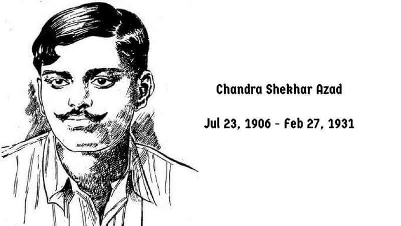 Chandra Shekhar Azad - (23 July 1906 - 27 February 1931)  IMAGES, GIF, ANIMATED GIF, WALLPAPER, STICKER FOR WHATSAPP & FACEBOOK