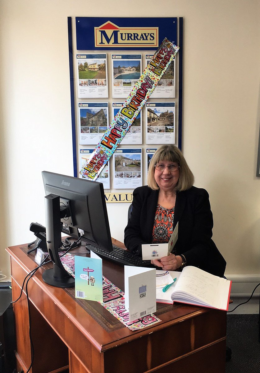 Happy Birthday, Nettie, from all of us at #murraysestateagents. May your day be full of sunshine and laughter! 💐🎂🍷🎈🎁 #bestofficemanager #stroud #fontofallknowledge