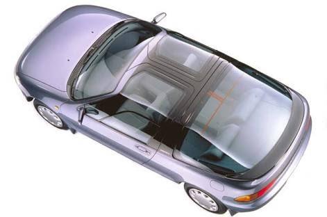 test ツイッターメディア - トヨタ セラ バブル崩壊直前に登場したガルウィングが特徴のクーペ。平凡な動力性能だが特筆すべきはそのガラスに覆われた外観。まさに走るビニールハウスで夏は地獄。でも一度は所有したい。子供の頃、近所の中古車屋にあって憧れてました。 https://t.co/mDZmJVwjdA