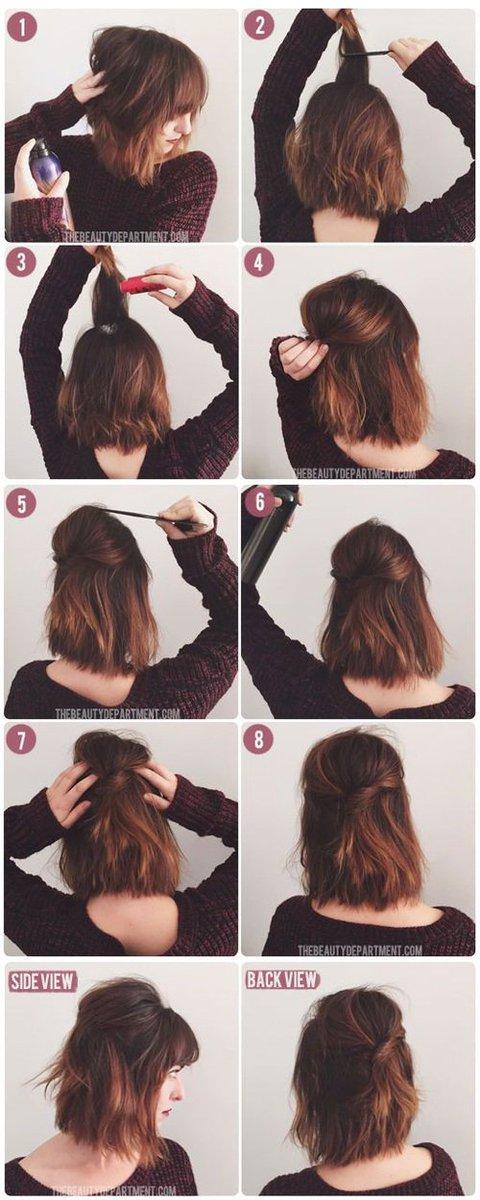 Un peinado para cabello corto. https://t.co/4x5jRMDNpv