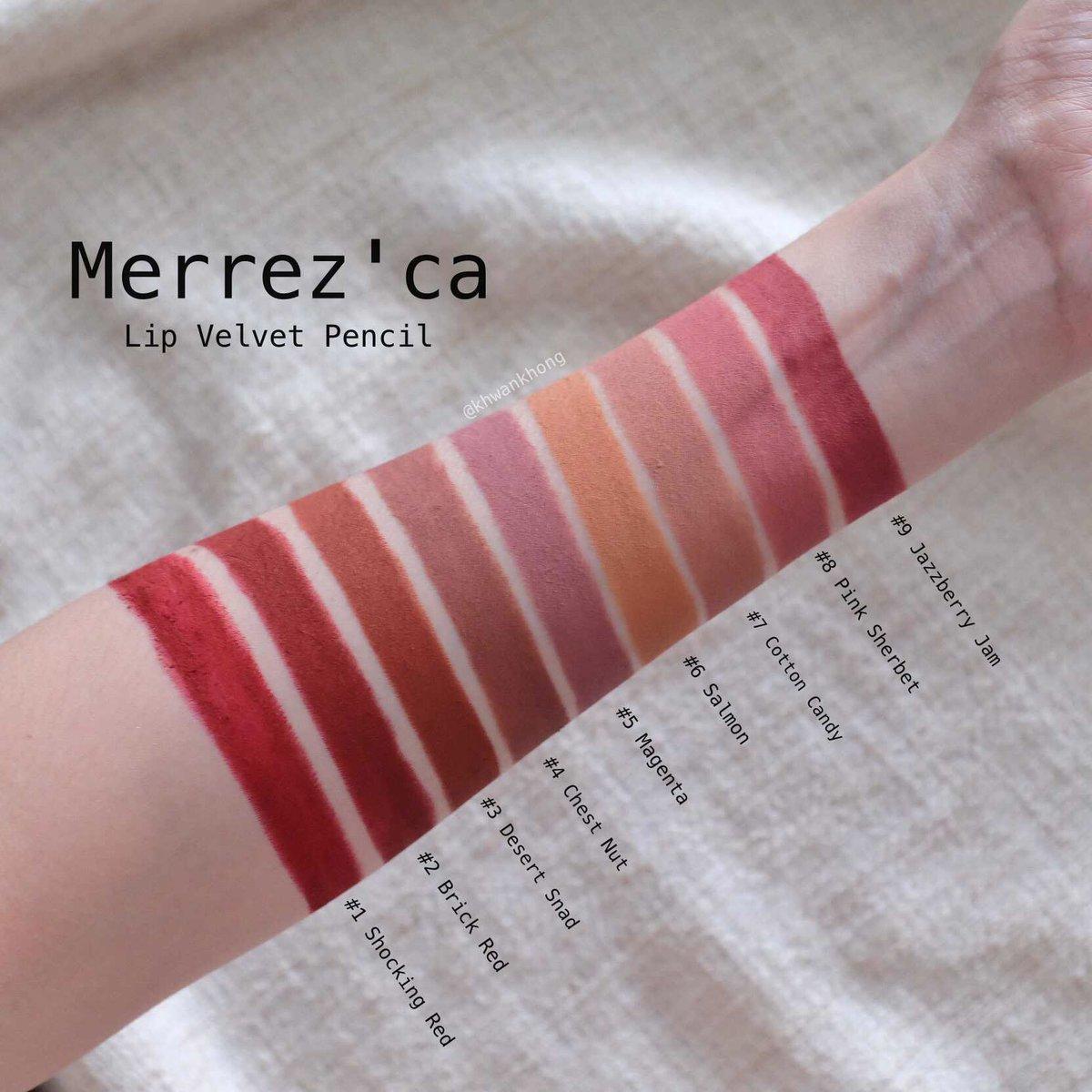 �ล�าร���หารู��า�สำหรั� Merrezca Lip Velvet Pencil