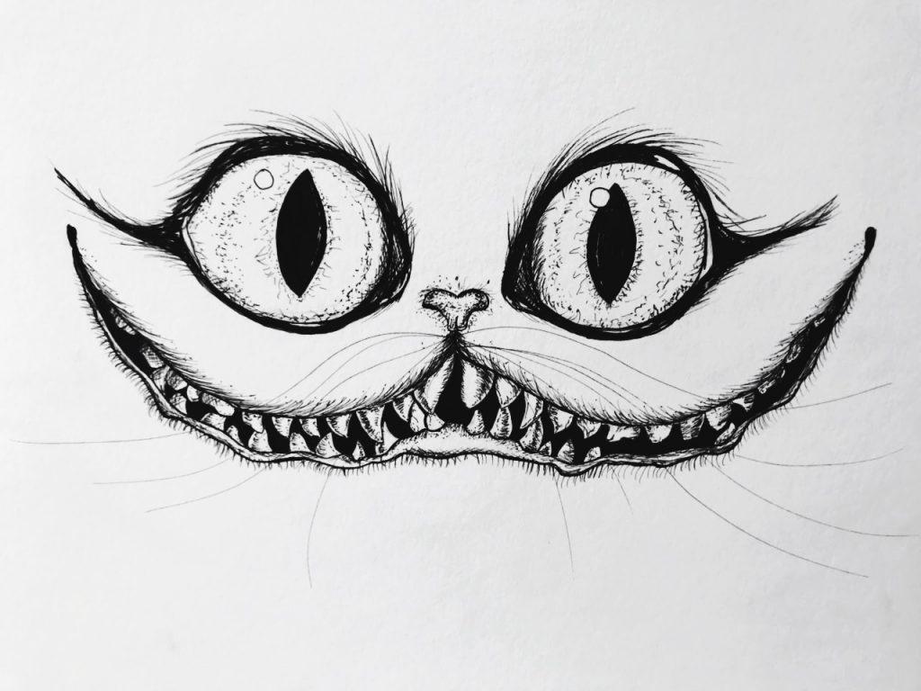 доброго здоровица рисунки чеширский кот простым такие