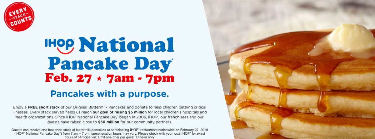 IHOP® National Pancake Day #NationalPancakeDay ihop.com/en/national-pa…