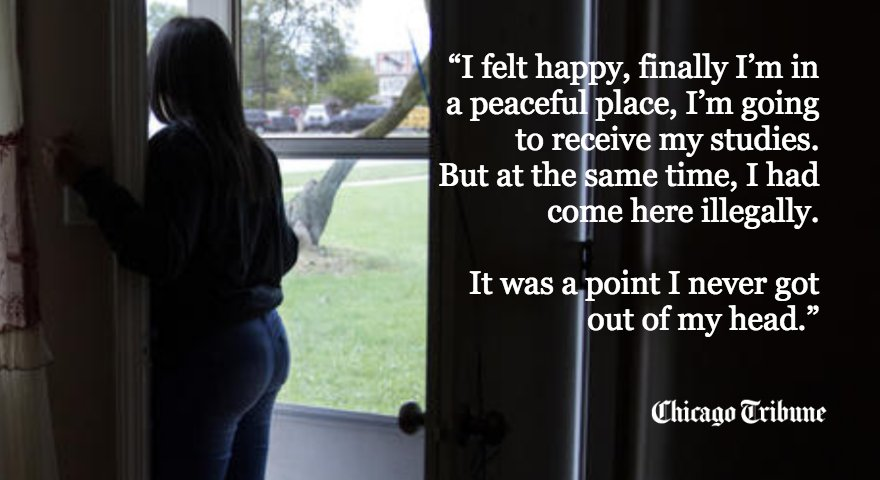 At 13 years old, Maryori Urbina-Contreras fled her native Honduras to escape gang violence and found safety in Waukegan. Now an immigration judge will decide if she can stay https://t.co/hJ0o0aw474