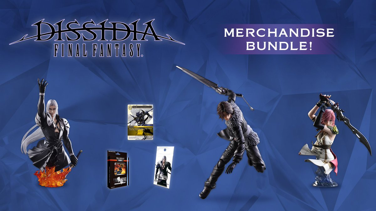 DISSIDIA FINAL FANTASY MERCHANDISE BUNDLE in available NOW! Get a collection of 6 wonderful FINAL FANTASY themed  merchandise items an an unbeatable price! *Only 300 available in Europe UK: store.eu.square-enix.com/ref/BDL-DISSID… EU: store.eu.square-enix.com/ref/BDL-DISSID…