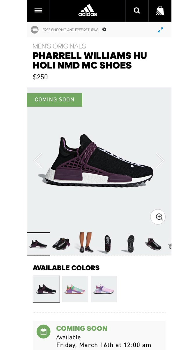78bb71444c230a Pharrell x Adidas HU NMD coming soon to Adidas US on March 16th at 12 am  PST   3 am EST Black AC7033 http   bit.ly 2BT5l6N Multi AC7034 ...