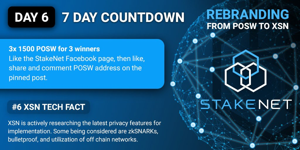 Stakenet On Twitter Day 6 Of The XSN Swap Countdown Contest Starts